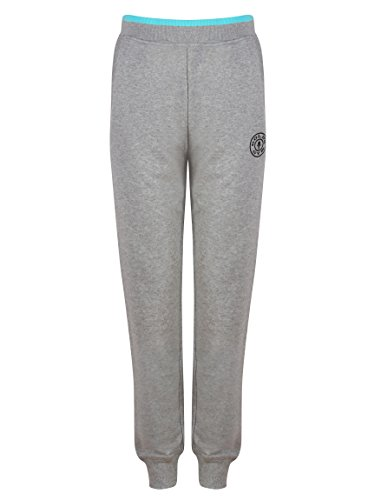 Golds Gym Damen Sporthose Ladies Fitted Premium Jog Pant Grey Marl