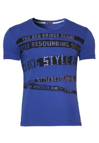 Redbridge T-Shirt Party Slim Fit with stones Night Blue