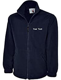 swagwear Embroidered Unisex Classic Full Zip Fleece Your Text Logo Personalised Workwear Uniform 5 Colours (XS-6XL) 604
