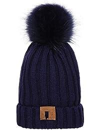 Sunonip Cappellino con Pompon Cappuccio Pompon in Pom Pom per Cappelli  Invernali Unisex Cappellino Extra in caef329f05a5