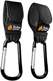 Ganchos Carro Bebé de Baby Uma - para Colgar tus Bolsas de Compra, Bolso o Cambiador en el Manillar de la Sill