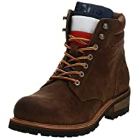 Tommy Hilfiger Suede Lace Up, Men Boots, Brown (Coffee Bean), 10 UK (44 EU)