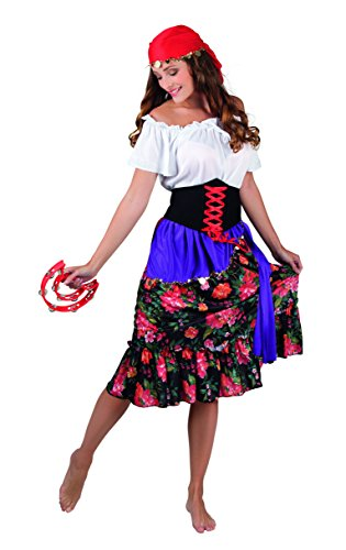 Kostüm 83565 - Zigeunerin Rilana, rot (Kleines Mädchen Zigeuner Kostüm)