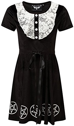 Killstar Kleid QUINN VELVET & LACE DRESS Schwarz