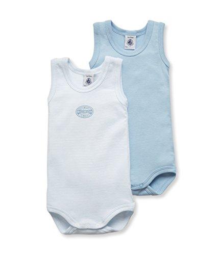 Petit Bateau Baby - Jungen Body 2P SM, 2er Pack, Gr. 92 (Herstellergröße: 24m/86cm), Blau (SPECIAL LOT 00)