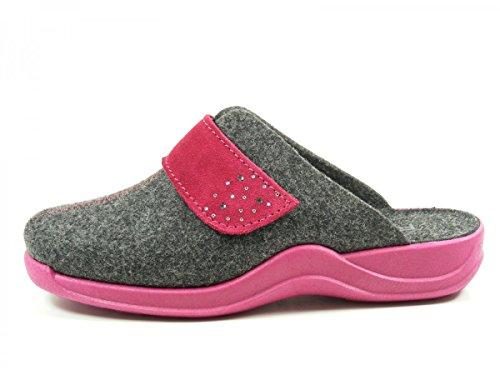 Rohde - Vaasa D, Pantofole Donna Grigio (Gris (Graphite))