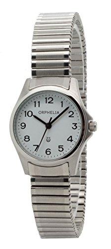 Damen-reloj analógico de cuarzo ORPHELIA acero 153-2715-18