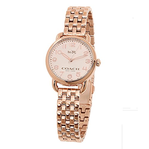 Rose Gold Dial Women's Analog Business Quartz Coach Watch Delancey 14502242