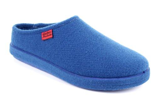 Andres Machado AM001 Fußbett Filzhausschuhe in Blau Gr.33
