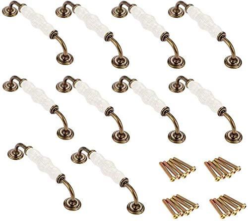 128 MM, 10 piezas Manijas del gabinete Tiradores de arco Ebeta 10 x Tirador moderno curvado para armario Aleaci/ón de zinc manija de la cocina