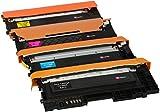 4er Set Premium Toner kompatibel für Samsung Xpress SL-C430 C430W SL-C480 C480FN C480FW C480W CLT-404S | Schwarz 1.500 Seiten & Color je 1.000 Seiten
