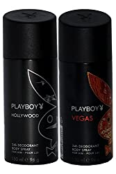 PLAYBOY Pack of 2 Men Deo