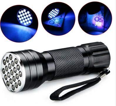 Yudanny 21 LED UV Ultraviolett Schwarzlicht Taschenlampe Lampe Taschenlampe Inspektionslicht -