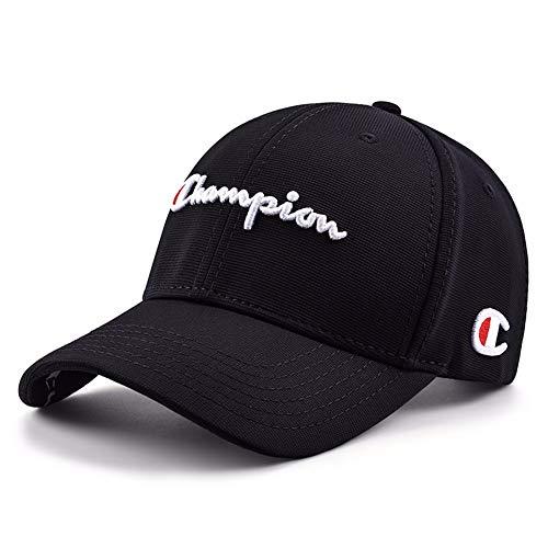 MZ Hut Baseballmütze Männer und Frauen lässig Cap Paar Reisen aus der Straße Hut Hip Hop Champion Cap (einstellbar), schwarz - Hüte Top Männer