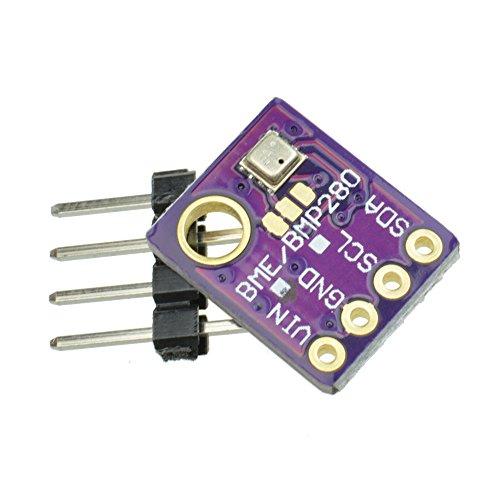 Breakout-modul (GY-bme280 High Precision Digital Sensor Breakout barometrischer Druck Temperatur Luftfeuchtigkeit Modul Board für Arduino Raspberry Pi DIY I2 C SPI 5V (1PCS))