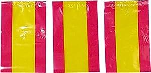 Verbetena - Bandera plástico España 20x30 cm, bolsa 5x10 metros (011200089)