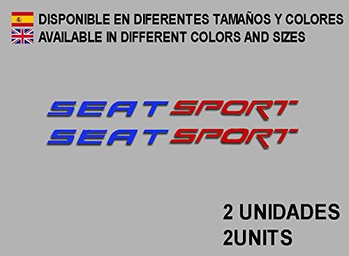 Ecoshirt 9U-BE19-ZETP Pegatinas Seat Sport F78 Vinilo