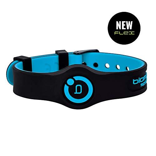 Bioflow Sport Flex Magnettherapie-Armband, verstellbar, Schwarz/Blau