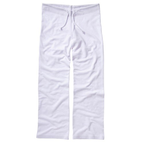 Bella + Canvas - Pantalones rectos de chándal de felpa para mujer (Grande (L)/Blanco)