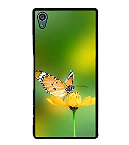 Fuson Designer Phone Back Case Cover Sony Xperia Z5 :: Sony Xperia Z5 Dual 23MP ( Butterfly On A Flower )
