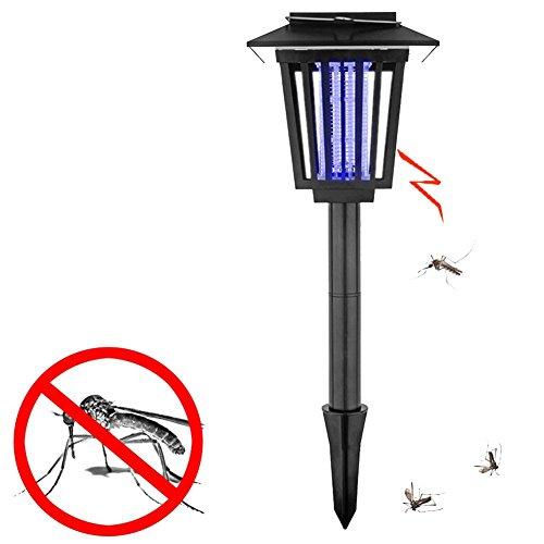 Yilisu De Plein air Énergie Solaire LED Tueur de Moustique Jardin Insecticide Lumière Route Lumière Deux Utilisatio Noir