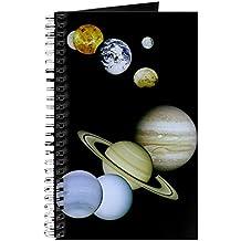 CafePress–nuestro sistema Solar–Diario encuadernado con espiral Notebook, diario personal, con forro