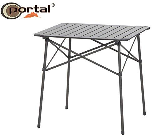 r Camping Rolltisch Alex, 70 x 71 cm, bis 30 kg belastbar, zusammenrollbar mit Alurahmen, inklusive Schultertasche ()