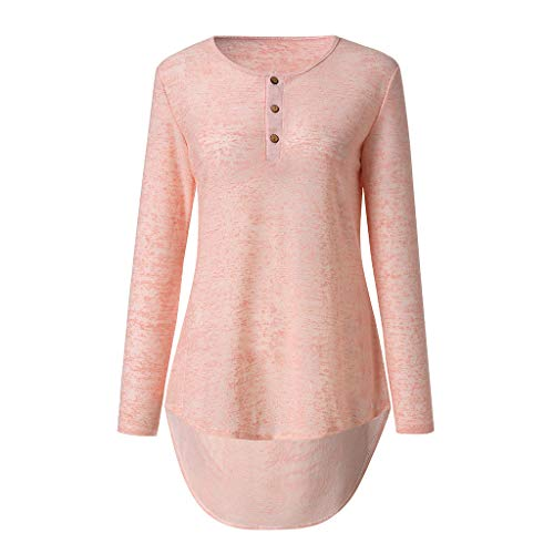 JUTOO 2019 Women Spring Autumn Casual Design Buttons Long Sleeve T-Shirt  Top Blouse 033a9107786c