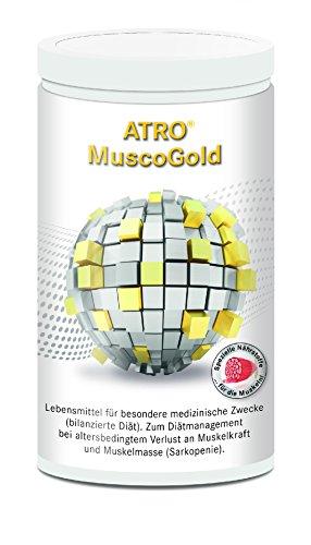 ATRO MuscoGold Kollagen-Präparat, Eiweiß-Pulver geschmacksneutral, 1-Monatspackung (450g Dose) - mehr Kraft, Muskeln & Gesundheit