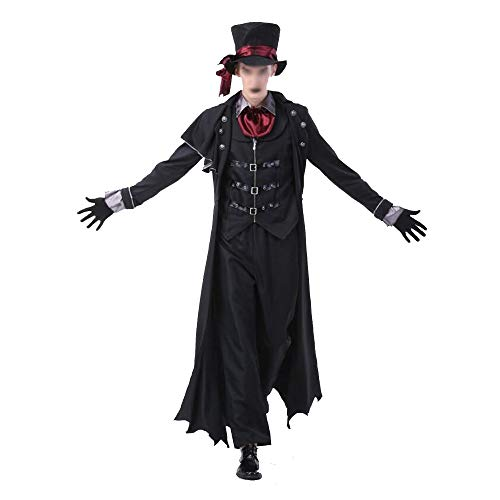 JIANGUAND Maschile e Femminile Costumi di Halloween Coppia Adulta Costume da Vampiro Earl Caricato Vestito da Zombie ( Color : Male , Size : M )