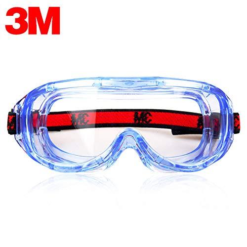 Feeyond 3M 1623Af Anti-Schock-Spritzschutzbrille Schutzbrille Wirtschaftlicher Transparenter Antibeschlagschutz