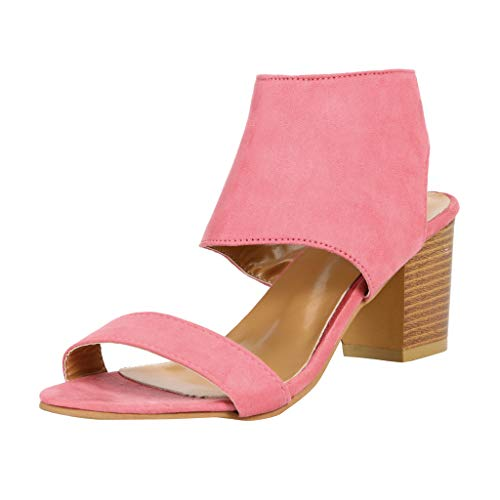Damenmode Zip up Ausschnitt Chunky Stacked Heels Wrap Ankle Booties Elegante Damen Party Brautkleid Sandalen -