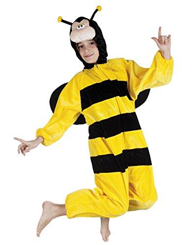 (Faschingsfete Kinder Motto-Party Karneval Kostüm Honig Biene Onsie, Jumpsuit, 116, 6 Jahre, Gelb)