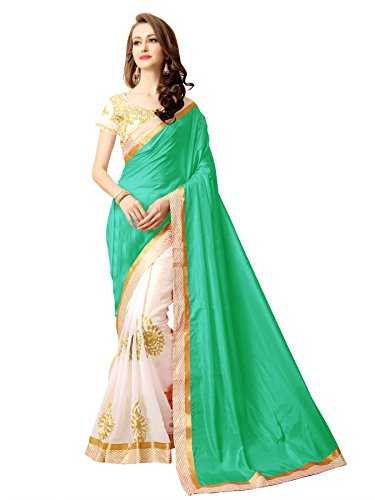 KOROSHNI Art Silk Saree With Blouse Piece(Kr-Vvra-Blue_Blue Free Size)