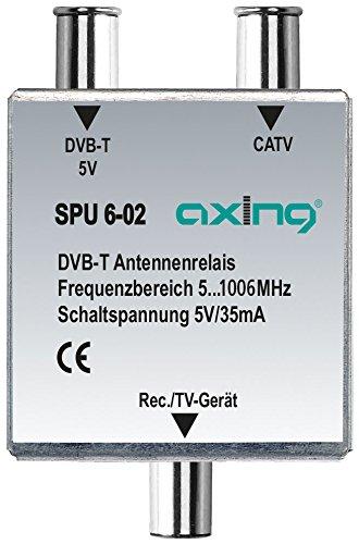 Axing SPU 6-02 DVB-T/BK-Antennen-Relais Umschalter für Kabelfernsehen und DVB-T2 HD