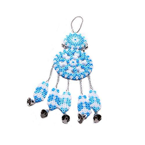 (Ndier Wind Chime Serie Hama Perlen Kampf Bohnen Spielzeug Kinder Halloween Spielzeug Perler Perlen Dekoration Pädagogisches Spielzeug Blau)