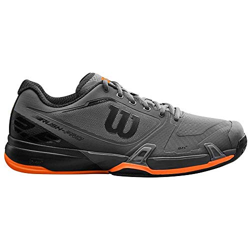 WILSON Rush PRO 2.5 Clay, Scarpe da Tennis Uomo, Arancione (Magnet/Black/Shocking Orange 000), 46 EU