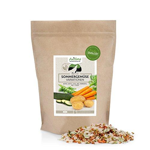 AniForte B.A.R.F. Line No3 Sommergemüse Variationen 1 kg glutenfrei für eigene Futtermischungen Hundeflocken- Naturprodukt für Hunde