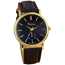 Ularmo Geneva Analog Quartz Vogue WristWatch Watches Black