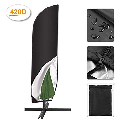 SanGlory 420D Sonnenschirm Abdeckung 4M Wasserdicht Sonnenschirm Hülle Große Outdoor Regenschirm Abdeckung für Ampelschirm/Standschirm und Gartenschirme mit Aufbewahrungstasche (280CM(46x81x30cm))