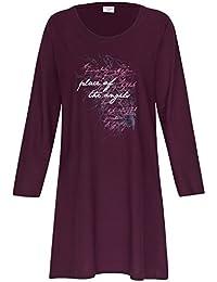 Nachthemd Damen Perla Schlafhemd Schlaf Shirt aus 100% Baumwolle Gr. S M L XL