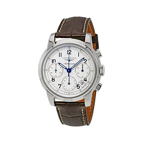 LONGINES - Reloj Hombre analógico automático Caja de Acero Banda de Cuero Saint-Imier Chronograph L27534730