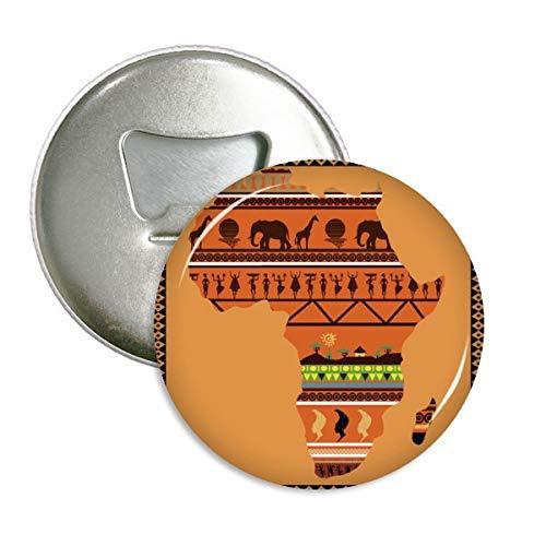Afrikanischen Kontinent Namen Landschaft Karte rund Flaschenöffner Kühlschrank Magnet badge Button 3Geschenk
