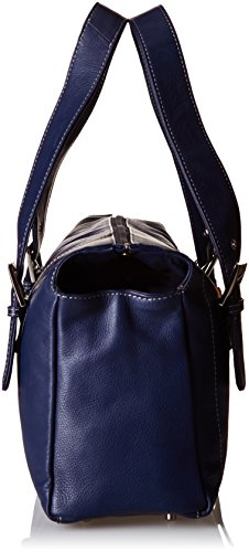 "Ledertasche ""Jane"" von Catwalk Collection - GRÖßE: B: 33 H: 20 T: 12 cm Marine Blau"