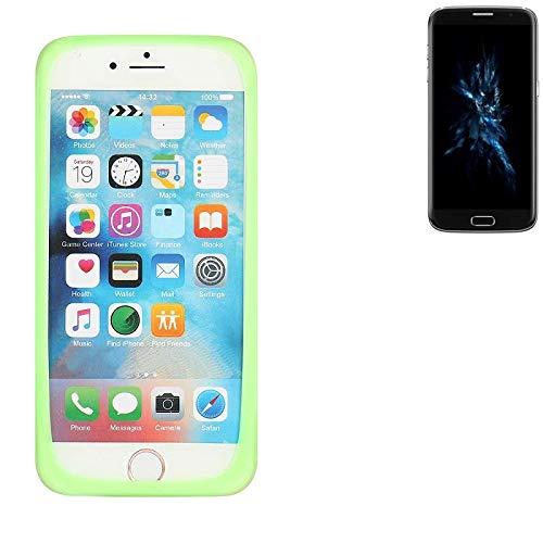 K-S-Trade Für Bluboo Edge Silikonbumper/Bumper aus TPU, Grün Schutzrahmen Schutzring Smartphone Case Hülle Schutzhülle für Bluboo Edge