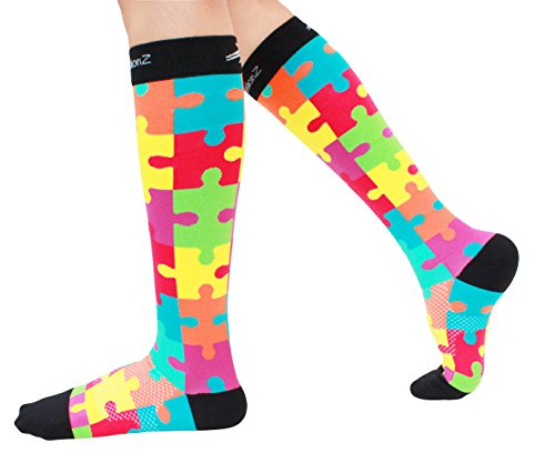Compression-Socks-Fun-Patterns-20-30mmHg-Men-Women-Running-Casual-Socks-by-CompressionZ