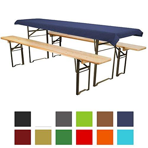 Tischdecke für Bierzeltgarnitur - 90x240 cm (für Tischbreite 70 cm) dunkelblau