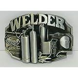 Brushed Silver Welder Mig Welding Torch Trades Must Have New Belt Buckle