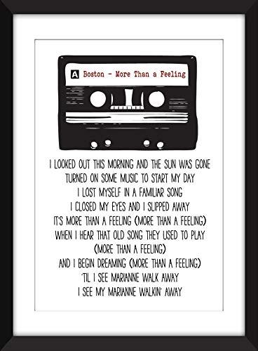 Boston - More Than A Feeling Lyrics - Unframed Print/Ungerahmter Druck - Klassische Print-rock
