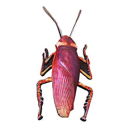 0Miaxudh Plüschtier, 22 Zoll Simulation 3D Kakerlake Insekt Gefüllte Plüsch Kissen, Kissen, Streich Spielzeug